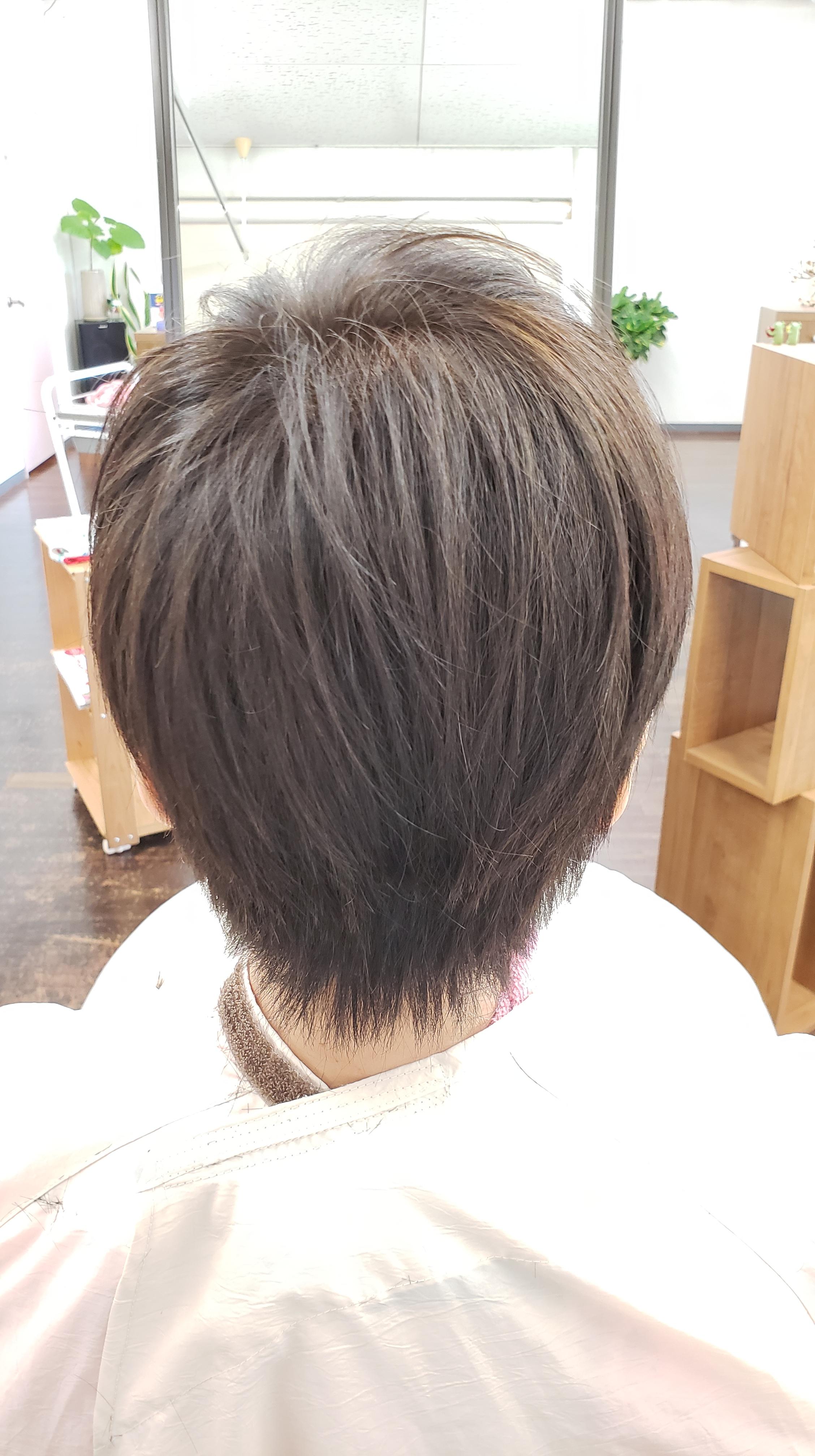 髪型が丸くなりにくいんです